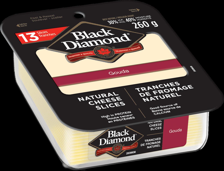 Gouda Natural Cheese Slices 260g
