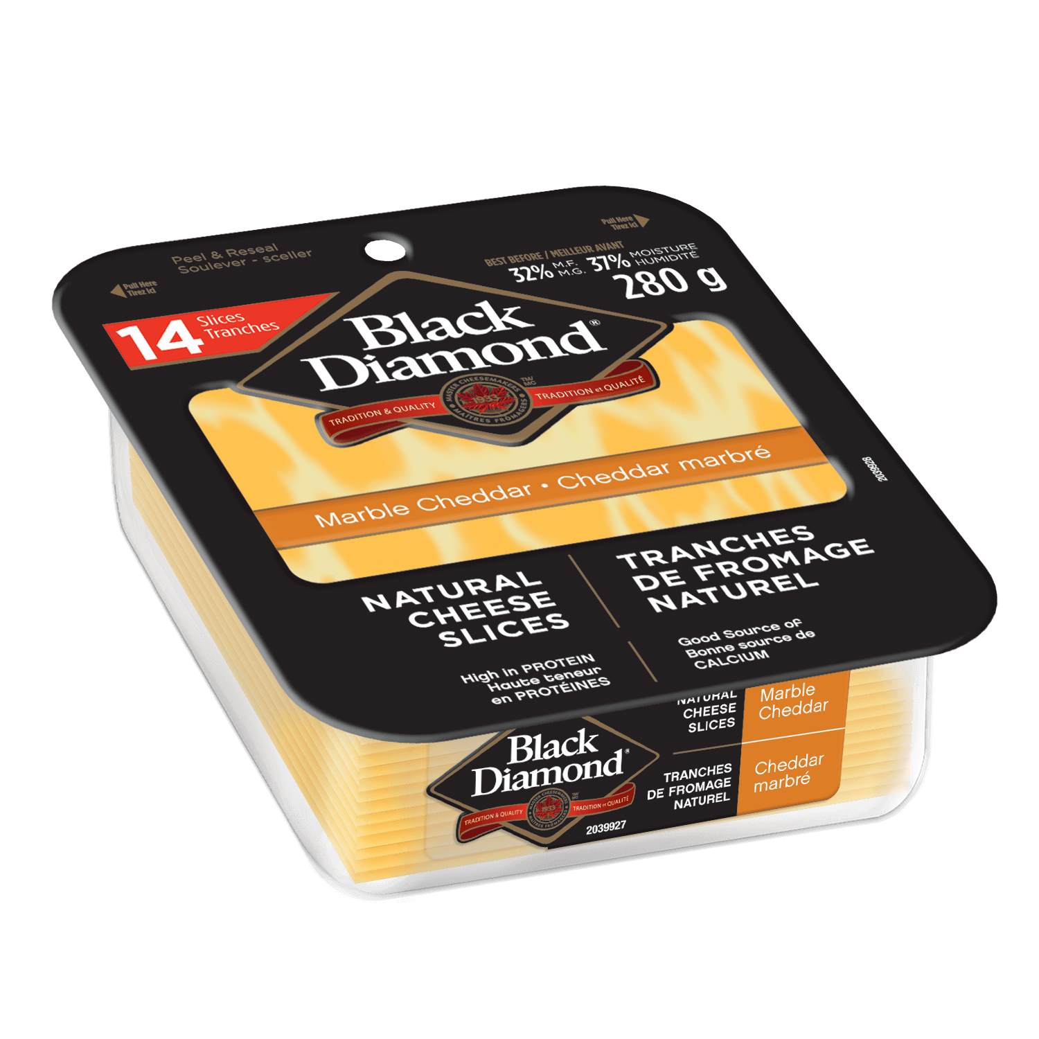 Marble Cheddar Natural Cheese Slices 280g