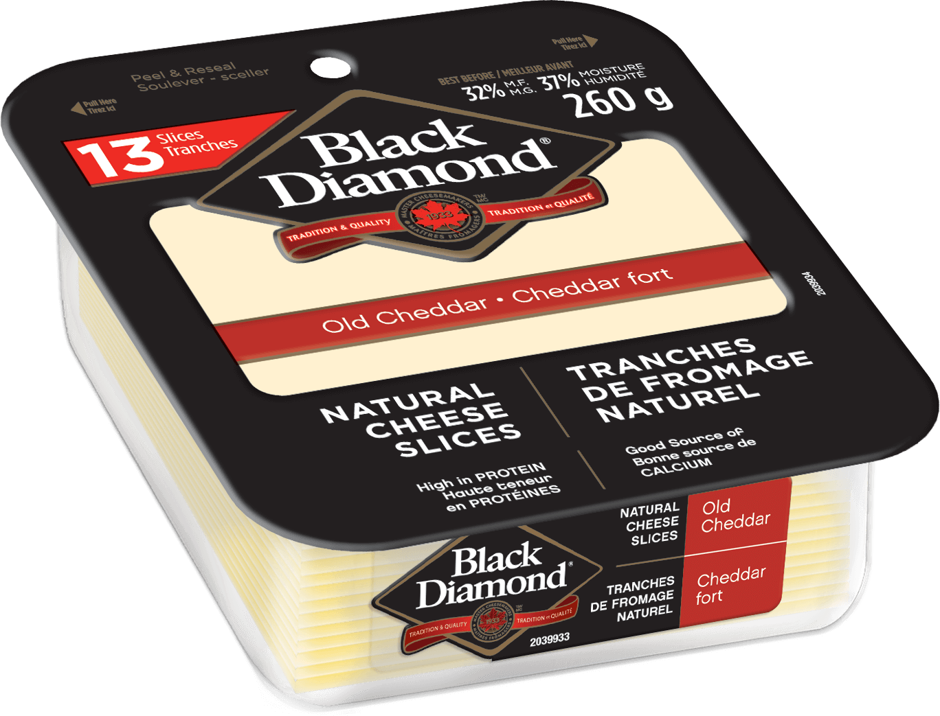 Old Cheddar Natural Cheese Slices 260g