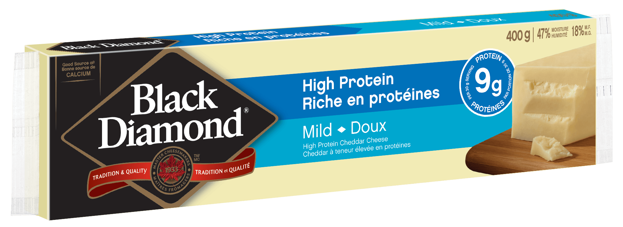 Cheddar doux riche en protéins 400 g
