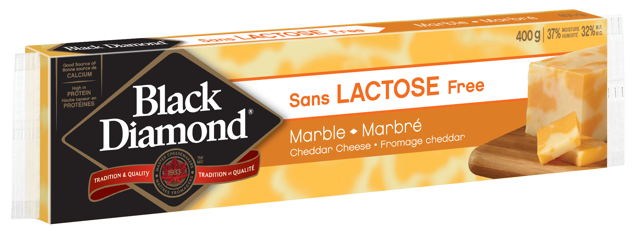 Lactose Free Marble Cheddar 400g