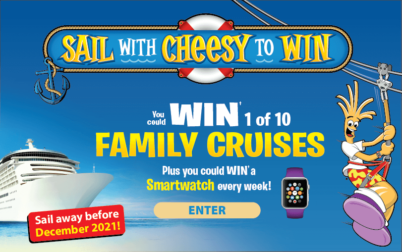 Come Sail with Cheesy to WIN!