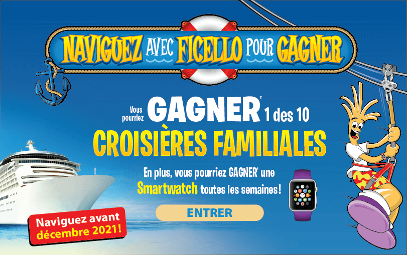 Naviguez avec Ficello pour GAGNER!